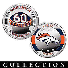 The Denver Broncos Proof Coin Collection