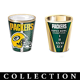 Green Bay Packers Shot Glass Collection