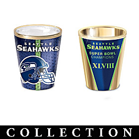 Seattle Seahawks Shot Glass Collection