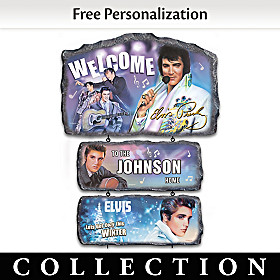 Seasons Of Elvis Personalized Welcome Sign Collection