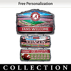 Alabama Crimson Tide Personalized Welcome Sign Collection