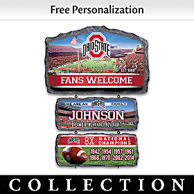 Ohio State Personalized Welcome Sign Collection