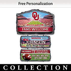 Oklahoma Sooners Personalized Welcome Sign Collection