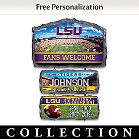 LSU Tigers Personalized Welcome Sign Collection