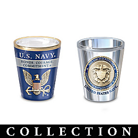 History Of The U.S. Navy Shot Glass Collection