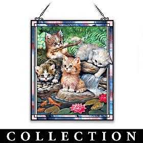 Playful Kittens Suncatcher Collection