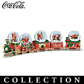 COCA-COLA Through The Years Snowglobe Train Collection