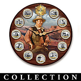 John Wayne: Time For A Hero Wall Clock Collection