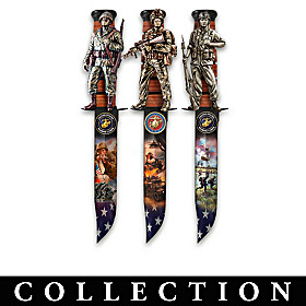 Pride Of America USMC Knife Wall Decor Collection