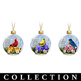 The Sparkle Of Songbirds Ornament Collection