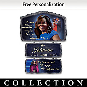 Michelle Obama Personalized Welcome Sign Collection