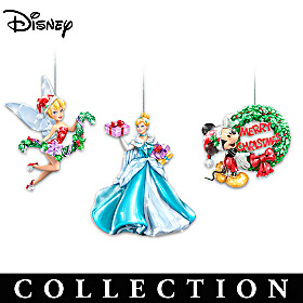 Disney Sparkle All the Way Ornament Collection