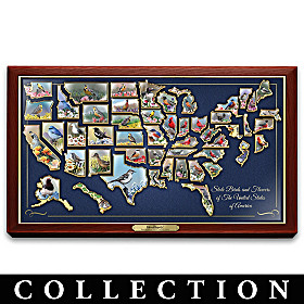 Kevin Daniel State Birds And Flowers Pin Collection