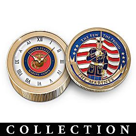 USMC Medallion Clock Collection