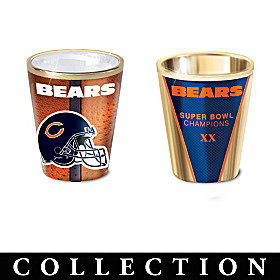 Chicago Bears Shot Glass Collection