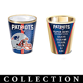 New England Patriots Shot Glass Collection