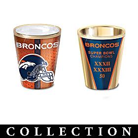 Denver Broncos Shot Glass Collection