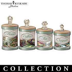Thomas Kinkade Tranquil Gardens Canister Collection