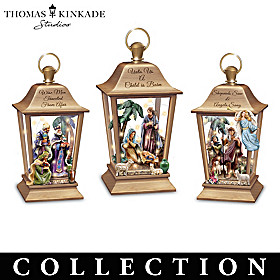 Thomas Kinkade Lights Of Faith Lantern Collection