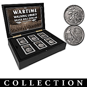 Complete Wartime Walking Liberty Half Dollar Coin Collection