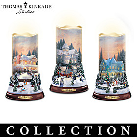 Thomas Kinkade Flurries Of Light Candle Collection