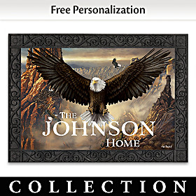 Majestic Presence Personalized Welcome Mat Collection