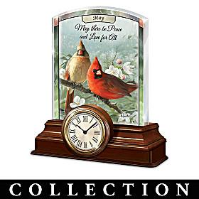 Radiant Songbirds Clock Calendar Collection