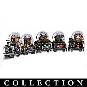 Haunted House Express Water Globe Collection