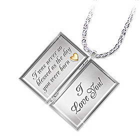 Dear Daughter Letter Of Love Diamond Locket