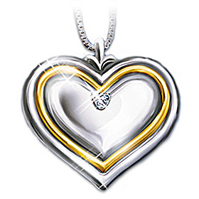 Dear Daughter-In-Law Diamond Pendant Necklace