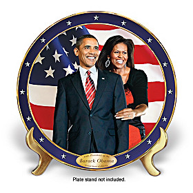 An Historic Change Barack And Michelle Obama Plate