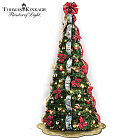 Thomas Kinkade Wondrous Winter Pre-Lit Pull-Up Tree