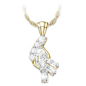 Fire And Ice Diamond Pendant Necklace