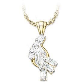 Fire And Ice Diamond Pendant Necklace