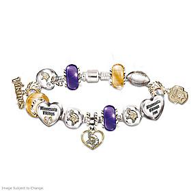 Go Vikings! #1 Fan Charm Bracelet
