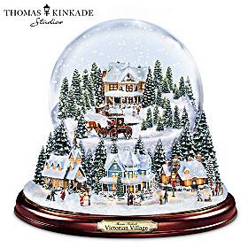 Thomas Kinkade Victorian Village Snowglobe