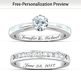 Our Forever Love Personalized Diamond Bridal Ring Set