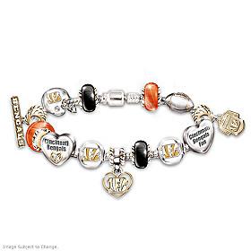 Go Bengals! #1 Fan Charm Bracelet