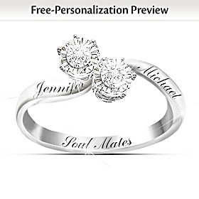 Soul Mates Personalized Diamond Ring