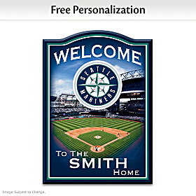 Seattle Mariners Personalized Welcome Sign