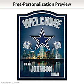 Dallas Cowboys Personalized Welcome Sign