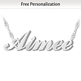 Granddaughter, I Love You Personalized Diamond Necklace