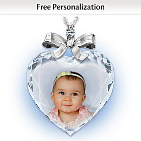 Precious Jewel Diamond Photo Pendant Necklace
