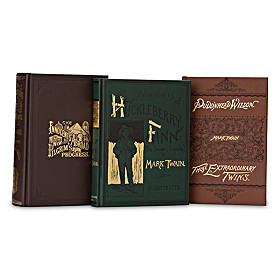 The Mark Twain First Edition Library 3-Volume Book Set
