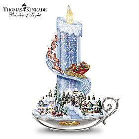 Thomas Kinkade Warm Glow Of Christmas Table Centerpiece