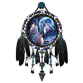 Wolf Songs Dreamcatcher Collector Plate