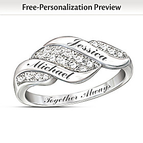 Cascade Of Love Personalized Diamond Ring