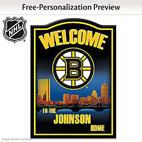Boston Bruins® Personalized Welcome Sign
