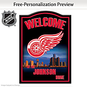 Detroit Red Wings® Personalized Welcome Sign