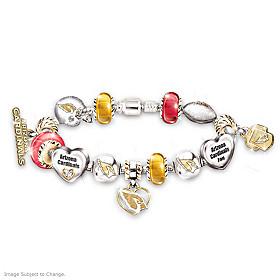 Go Cardinals! #1 Fan Charm Bracelet